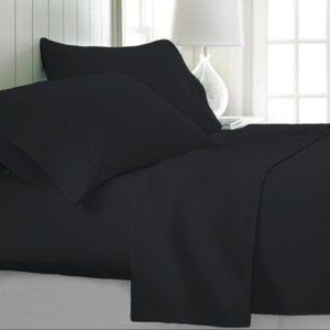 Bamboo Sheets 6 piece set Queen Black